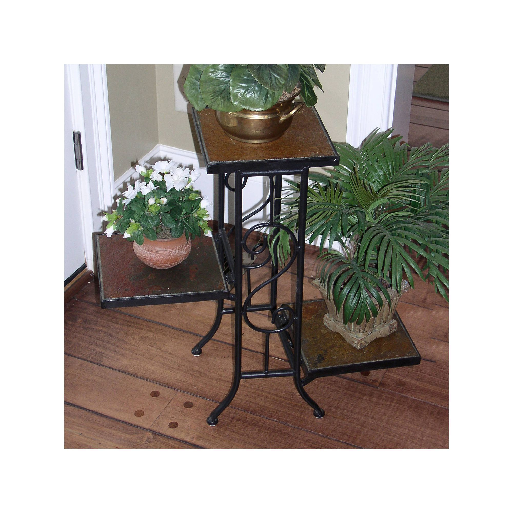 Slate 3 Tier Plant Stand Outdoor Plant Stand Indoor Plant Stands Outdoor Plant Stand
