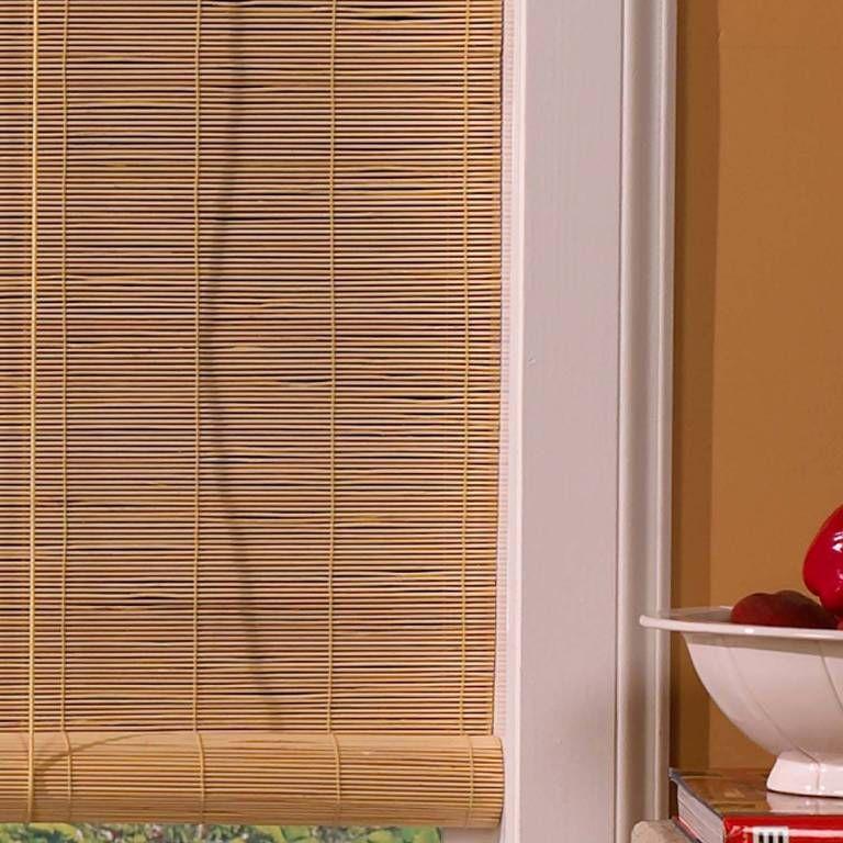 Burnt Bamboo Roll Up Blinds Blinds For Windows Diy