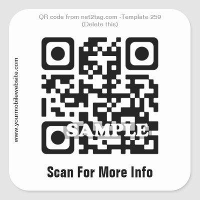 Custom Qr Code Sticker Qr Code Template 259 Zazzle Com Coding Qr Code Custom Stickers