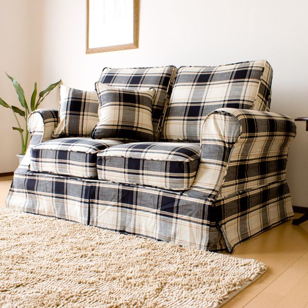 Country Sofa But Not Blue In The Plaid Green Red Or