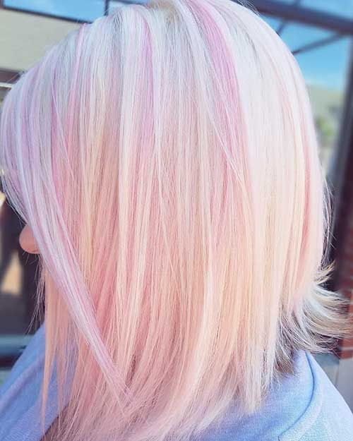 Short Blonde Hair With Pink Highlights Pink Blonde Hair Light Pink Hair Hair Color Pink