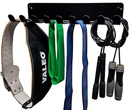 Curl Bars and Lifting Belts with 10 Prong Hooks Jump Ropes,Chains OUUO Home Gym Storage Accessories Rack for Resistance Bands,Fitness Straps