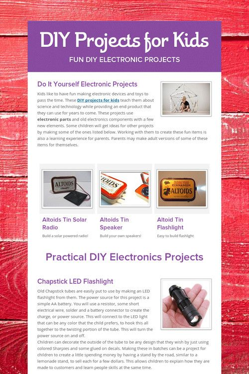 Diy projects for kids electronic projects astrophysics science diy projects for kids electronic projects solutioingenieria Gallery