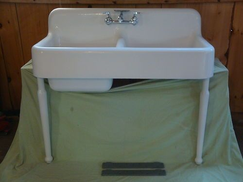 Antique Cast Iron Farm Farmhouse Kitchen Sink Legs Vintage Kohler