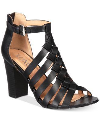 XOXO Baxter Strappy Block-Heel Sandals | macys.com