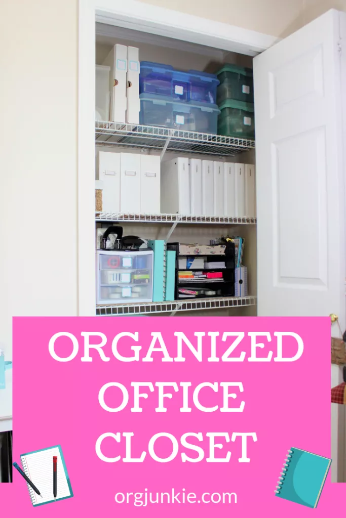 My Organized Office Closet A Home For Everything Closet Office Organization Closet Office Office Organization