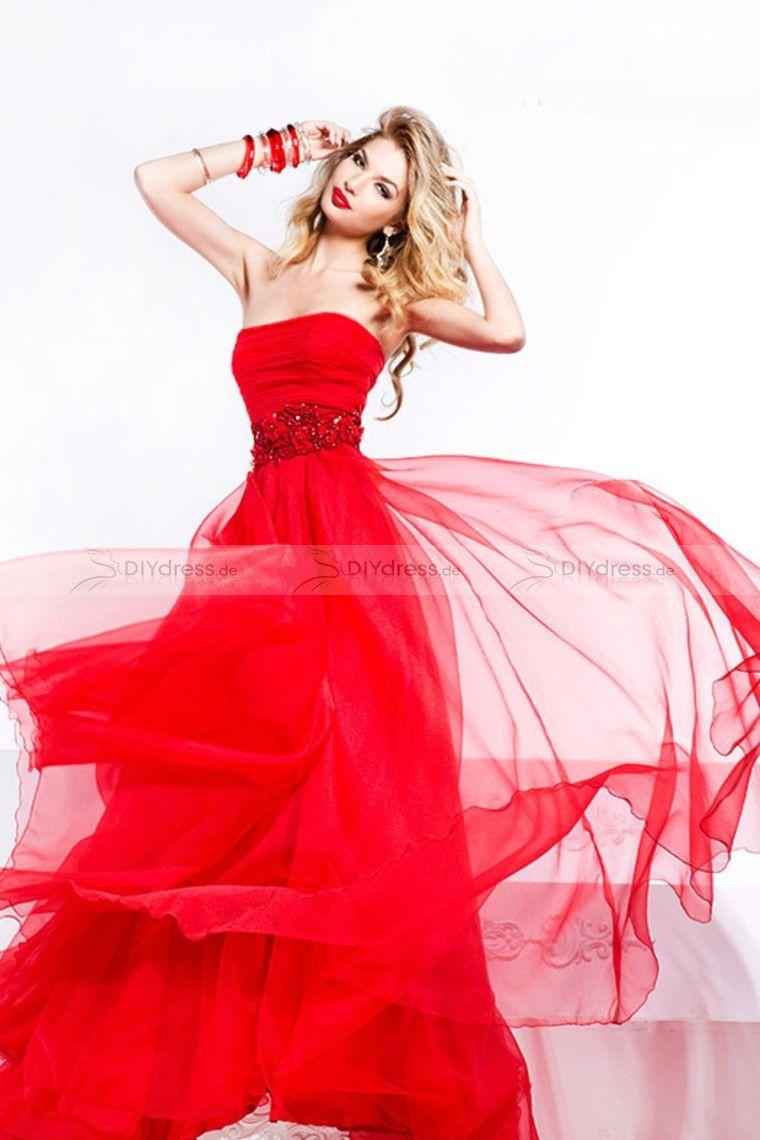 red prom dress dresses | Dress | Pinterest | Bodenlange abendkleider ...