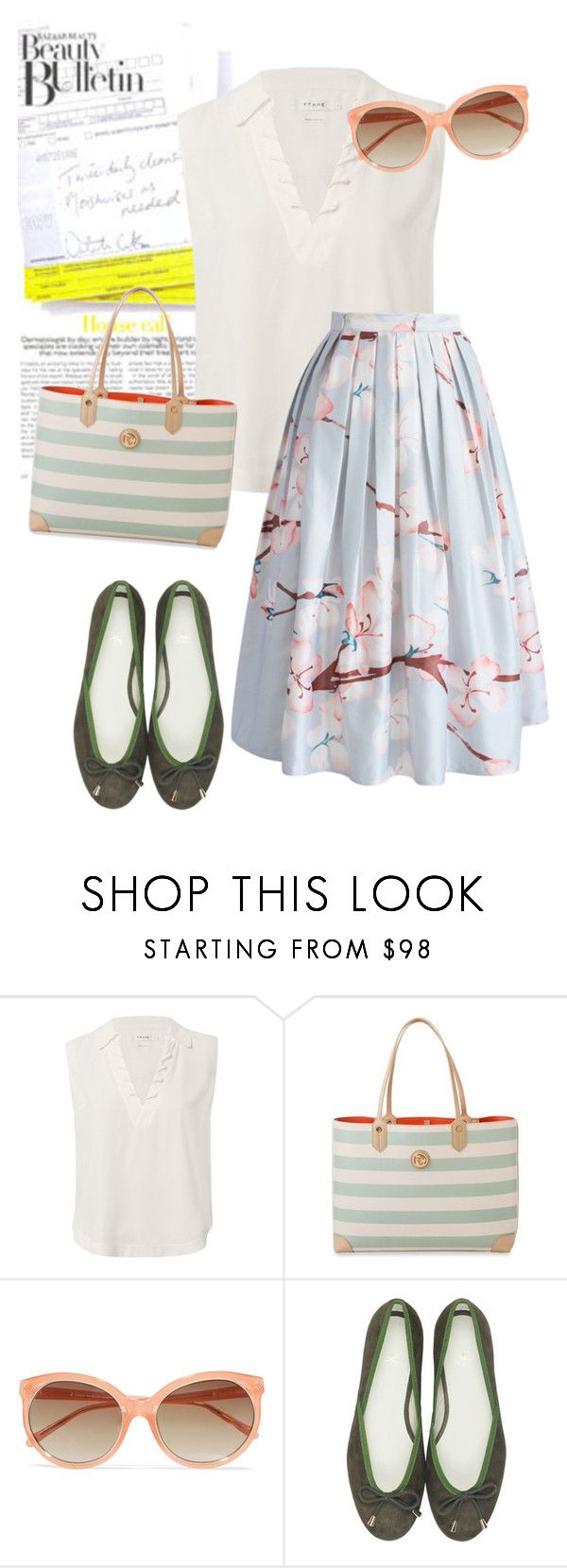 """""""pumps"""" by masayuki4499 ❤ liked on Polyvore featuring Frame, Spartina 449, Linda Farrow and Chicwish"""