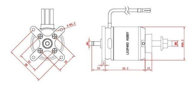 RC Turnigy Aerodrive SK3 2830-920kv Brushless Outrunner Motor