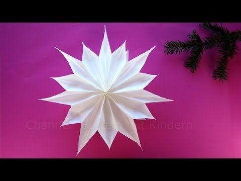 Sterne basteln mit Papier-Butterbrottüten - Weihnachtssterne - Weihnachtsdeko - DIY Weihnachten - YouTube