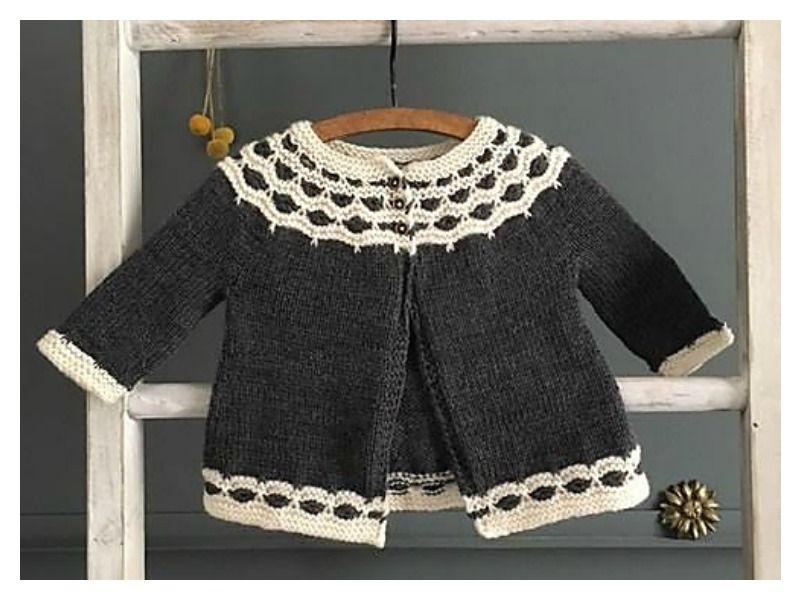 Mabel Baby Cardigan Free Knitting Pattern   Baby cardigan ...