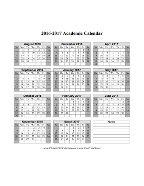 Academic Calendar Calendar  Calendars