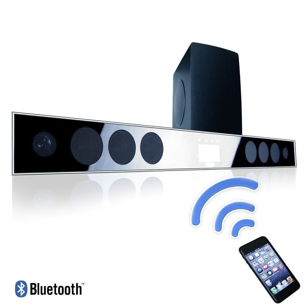 home theatre bluetooth sound bar with wireless subwoofer for LCD TV ...
