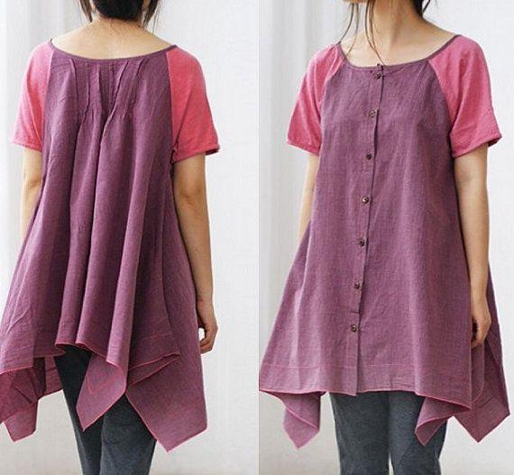 babydoll, blouse, clothing, gown, irregular, loose, lovely, mini, shirt, short sleeve, tunic, women