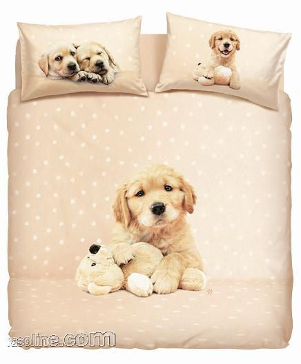 Lenzuola Minnie Matrimoniali.Set Copripiumino Lenzuola Matrimoniale Golden Puppy Rachael Hale