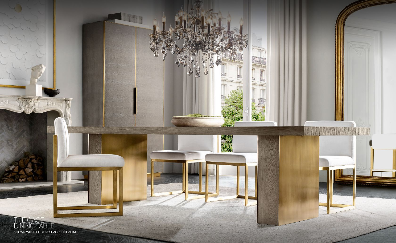 RH Modern. Introducing the Gage Dining Table Collection