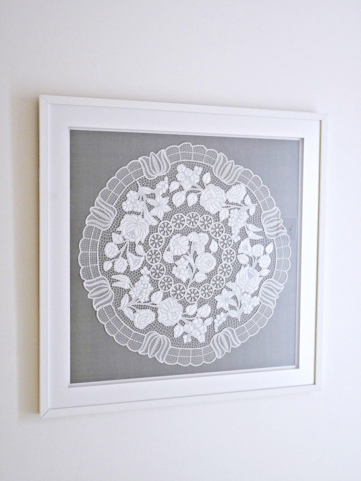 How to Frame Hungarian Embroidery or Doily for a Modern Look ...