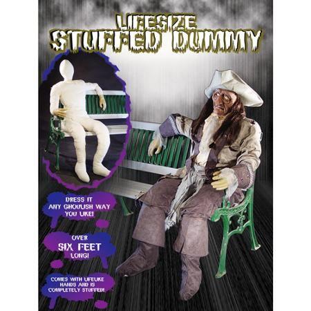 Life-Size Halloween Stuffed Dummy with Lifelike Hands, 6-ft Tall - halloween decorations at walmart