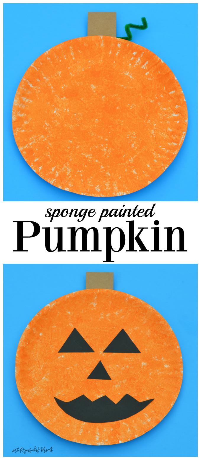 Sponge Painted Pumpkin Craft
