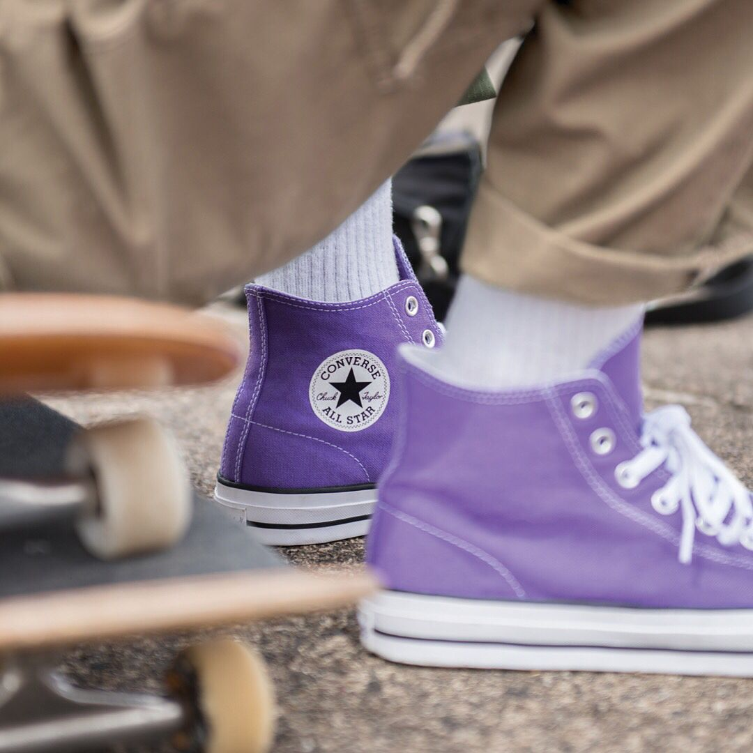 The @converse_cons #PurpleFilm CTAS Pro and One Star CC Pro