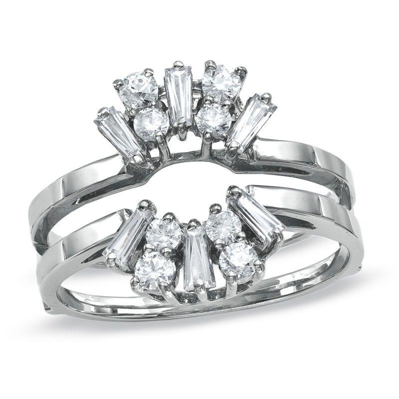 12 ct tw diamond solitaire ring enhancer in 14k white