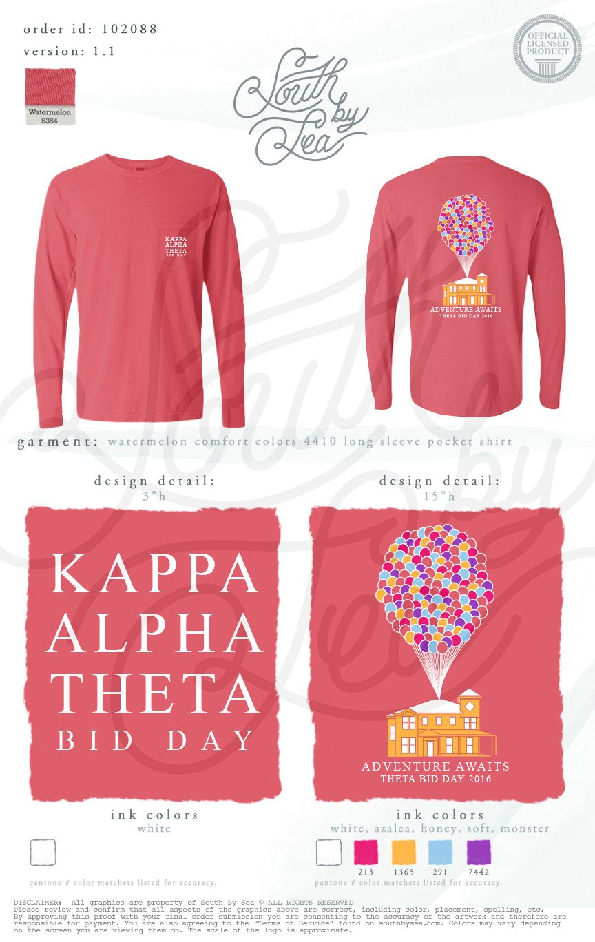 54b9f35c Kappa Alpha Theta | Thetas | Bid Day T-Shirt Design | Adventure Awaits