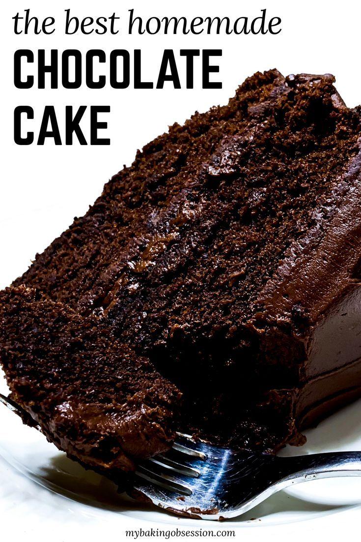 Selbst gemachtes Schokoladenkuchen-Rezept #easychocolatecake
