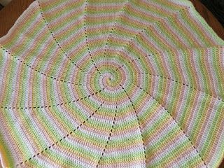 "SmoothFox's Four Color Spiral Blanket Created by Donna Mason-Svara aka SmoothFox Copyright 2011 Version 1.0  Hobby Lobby ""I Love This Yarn..."