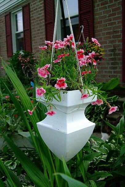pvc fence finial hanging planter
