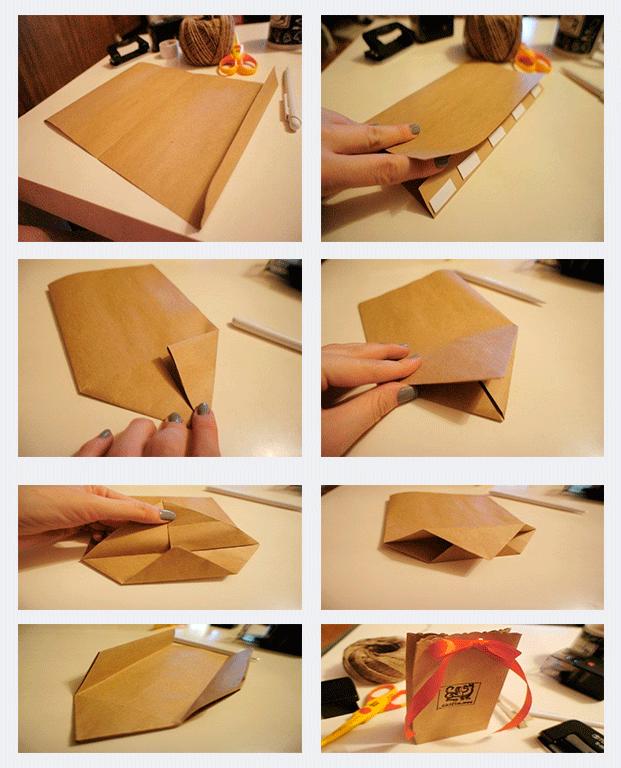 Hacer una bolsa de papel paso a paso bolsas pinterest - Hacer bolsas de papel en casa ...