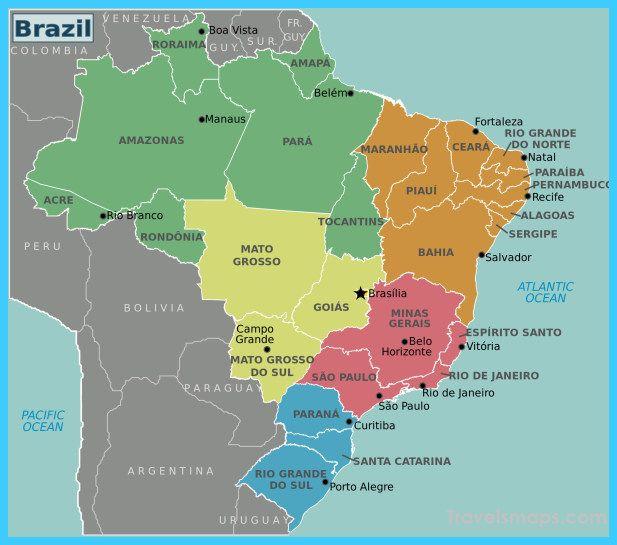 Hand On Brazil Map