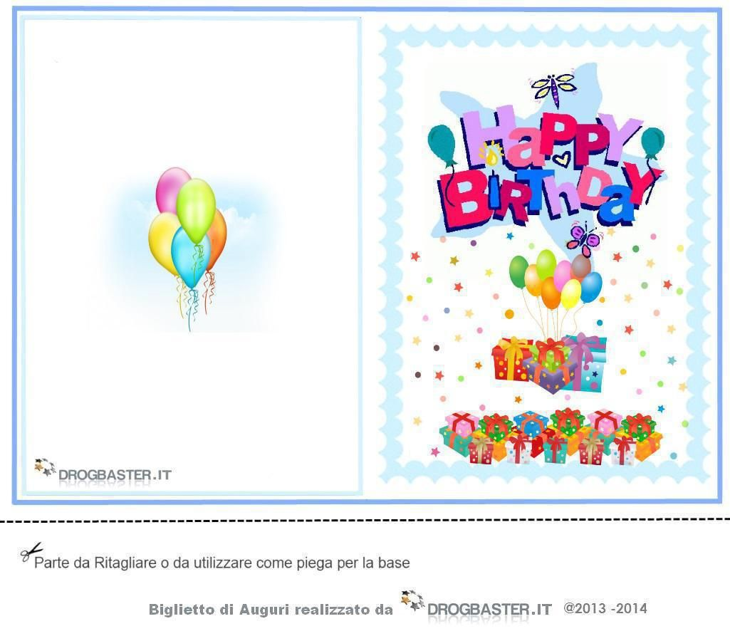 Raccolta Di Bigliettini Di Auguri Per Il Compleanno Da Stampare Gratis Biglietti Di Buon Compleanno Biglietti Di Compleanno Compleanno