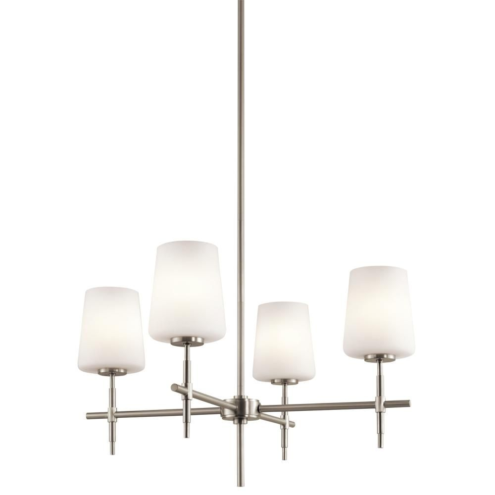pego lighting. Four Light Brushed Nickel Up Chandelier : LFVCH | Pego Lamps Lighting