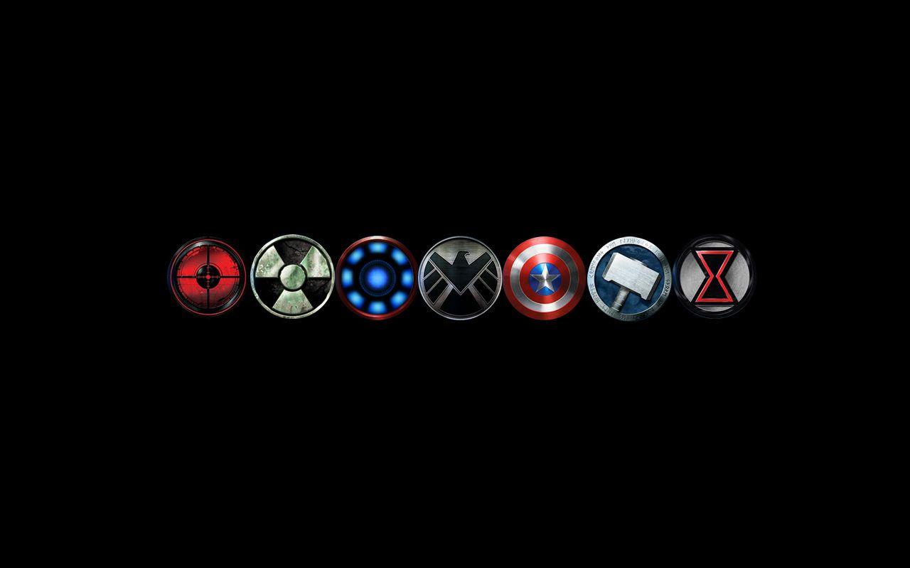 FIXED arc reactor - Avengers logo wallpaper