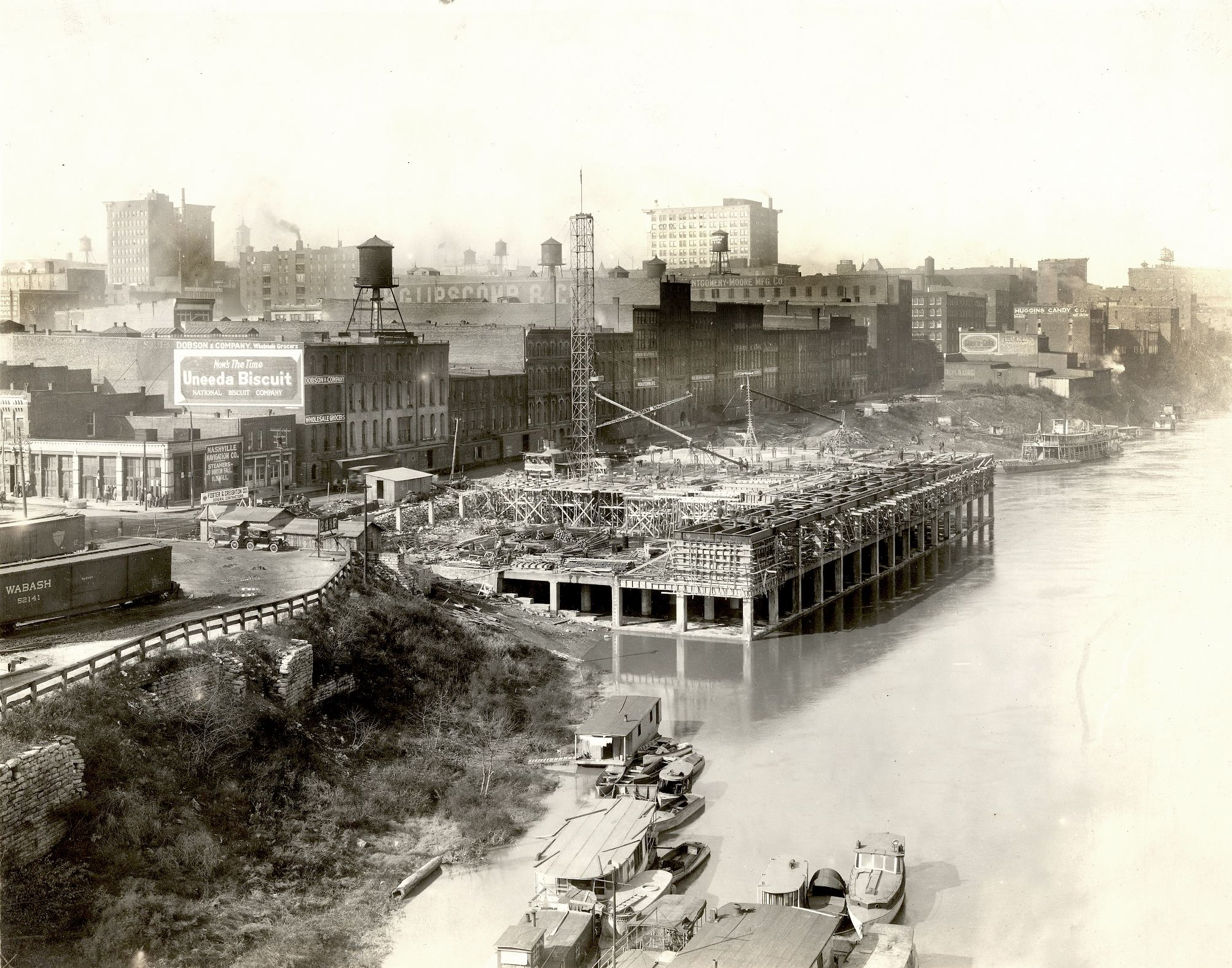 Nashville Tn River Terminal Construction 1921