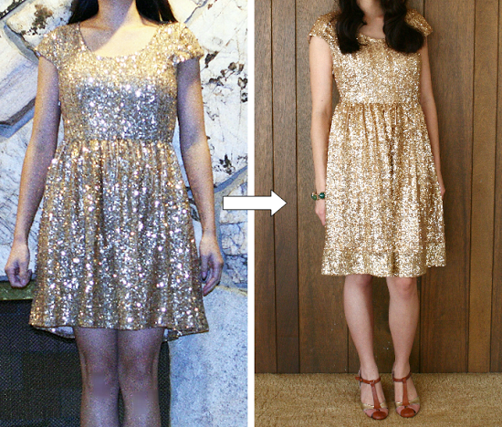 DIY: lengthening a mid-thigh dress to knee length ...