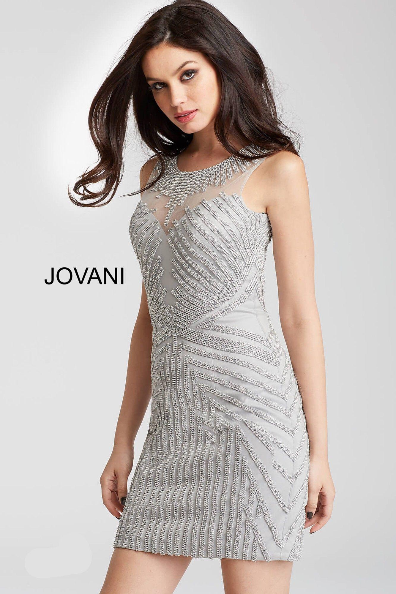 Jovani 55857 Jeweled Geometric Short Dress | Pinterest