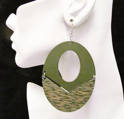 Wood Earrings-12777