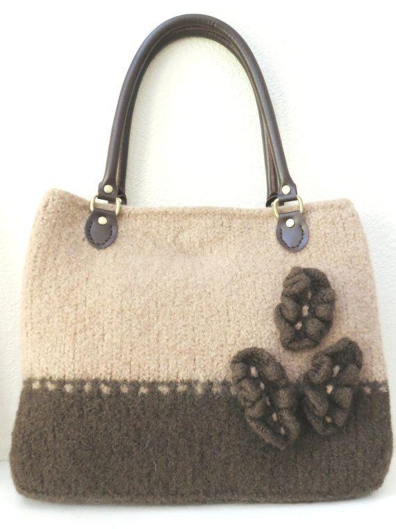 Knit Bag Pattern Felted Purse Pattern Knitting Pattern Instant