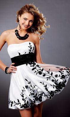 7495452890b1 Black white flower formal dress