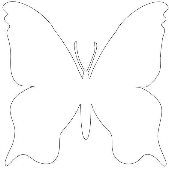 Gabarit papillon gabarits patrons moldes de mariposas artesan as de tarjetas et mariposas - Modele de papillon ...