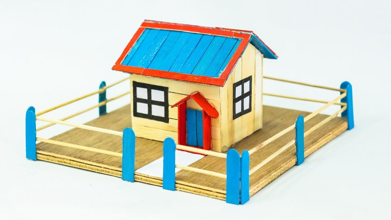 Pin by denize lins de lima lima on diy pinterest popsicle stick hello friends this time i have made a model of popsicle stick house this diy project ice cream stick househelps you to make a simple model popsicle stic ccuart Image collections
