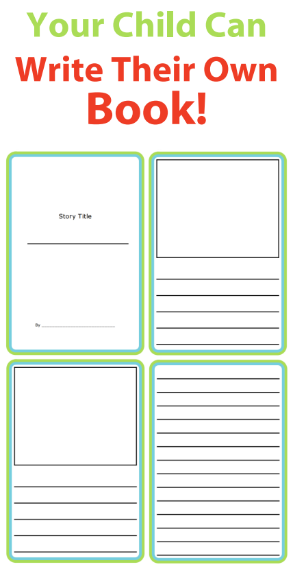 these printable story templates let kids use their imaginations to write stories and draw pictures easily create a little book for your budding author