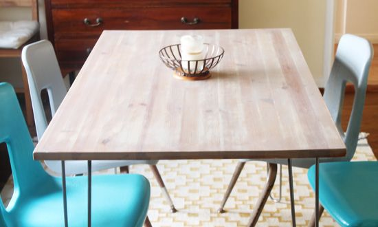 Last week I performed a little Ikea hack on my dining room Ikea Jokkmokk table . My initial idea was to remove the legs, replace them w...
