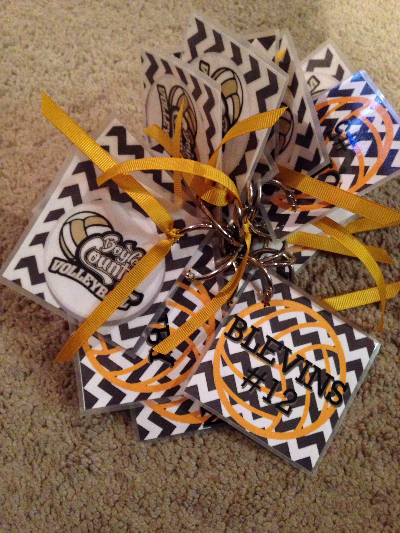 Volleyball Bag Tags For The Team Perfect To Tie Winning Ribbons On After A Win Volleyball Bag Tags Volleyball Bag Volleyball Locker