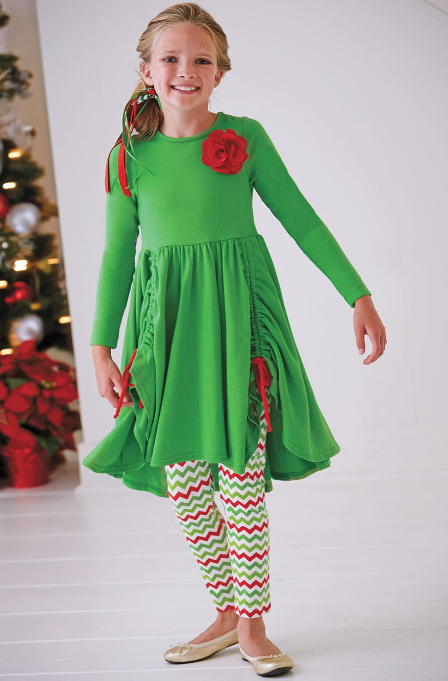 f6d3e7f1 From CWDkids: Holiday Drawstring Dress Set. Find this Pin and more on Kids  Holiday Outfits ...
