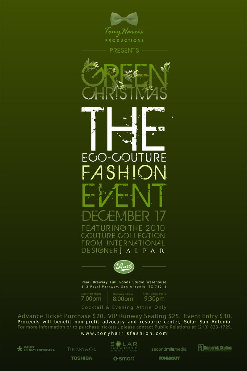 Design posters | Green Christmas – The Eco-Couture Fashion Event ... for Creative Event Posters  56bof