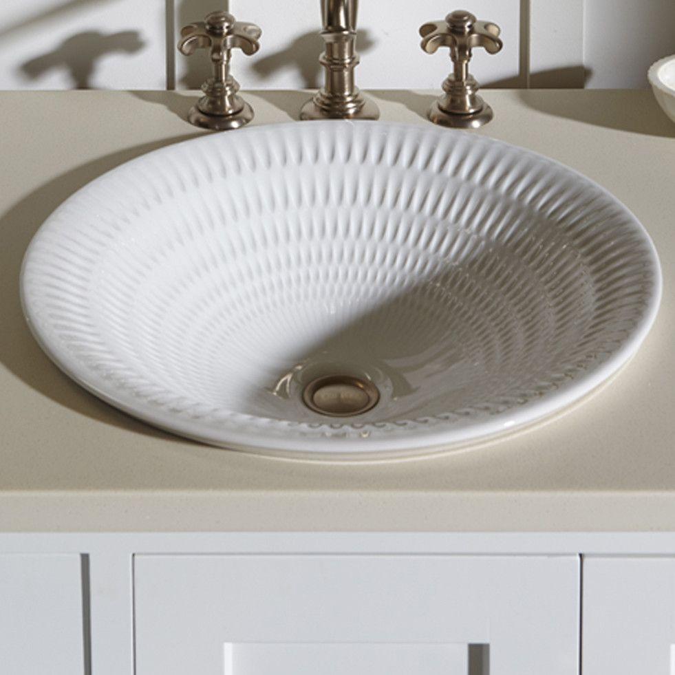 Derring Carillon Wading Ceramic Circular Drop In Bathroom Sink