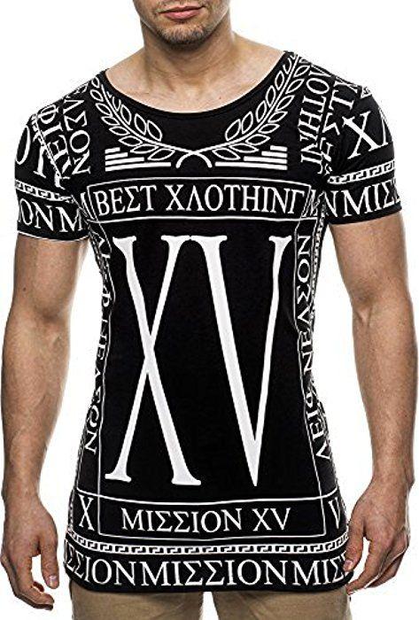 LEIF NELSON Herren T-Shirt Long Sweat Sweatpullover zipped; Grš§