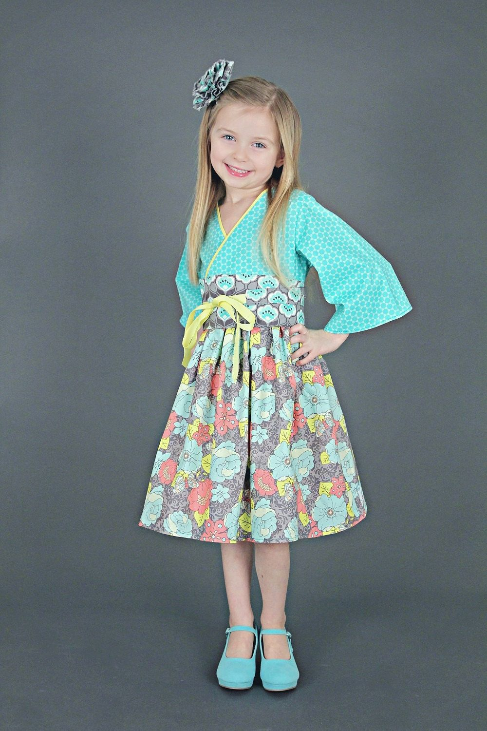Little Girls Dress - Toddler Birthday Clothes - Tiffany Blue ...